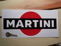 Martini Logo Sticker. Black. Large. Various Sizes.