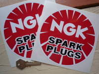 NGK Spark Plugs Round Stickers. 3