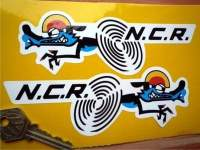 "NCR Ducati Racing Stickers. 4"" or 6"" Pair."