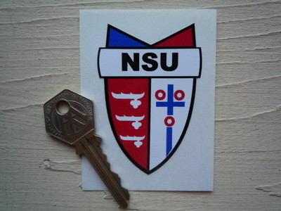 "NSU Shield Style Sticker. 2""."
