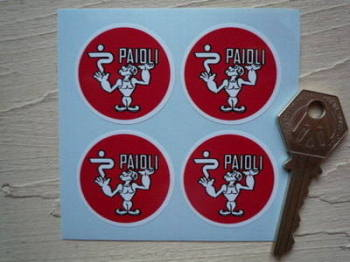 Paioli Ducati Old Style Circular Stickers. Set of 4. 37mm.