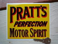 Pratt's Perfection Motor Spirit Oblong Sticker. 6