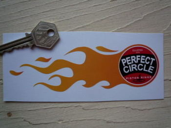 "Perfect Circle Flames Stickers. 5.75"" Pair."