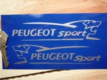 """Peugeot Sport Lion Cut Vinyl Stickers. 6"""" Pair."""