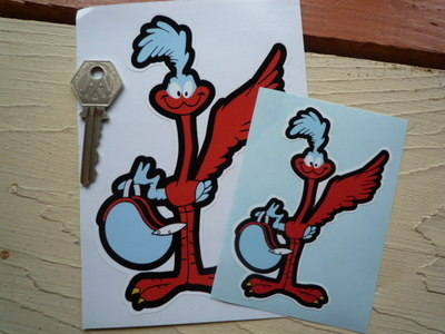 "Road Runner Gulf Colours Sticker. 4"" or 6""."