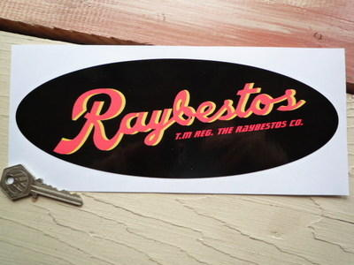 Raybestos Brakes Black Oval Sticker 95