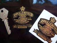 Royal Enfield Gun Black Background Stickers. 2