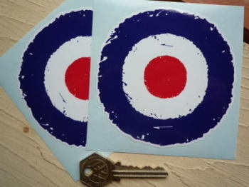 "RAF Roundel Urban Graffiti Stickers. 3"" or 4"" Pair."