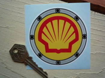 "Shell Fuel Filler Sticker. 3""."