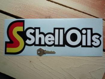 "Shell Oils Shaped Sticker. 13""."