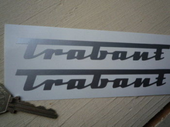 "Trabant Cut Vinyl Stickers. 4"" or 6"" Pair."