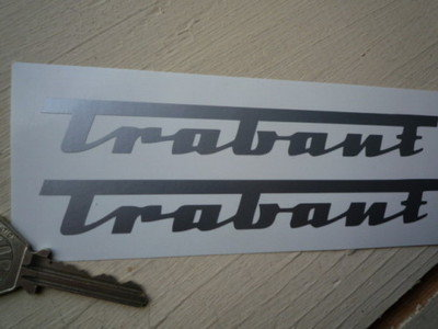"Trabant Cut Vinyl Stickers. 4"" or 6"" Pair."