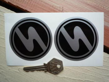 "Trabant Circular Stickers. 2.5"" Pair."