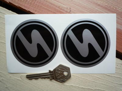 "Trabant Circular Stickers. 2.5"" Pair."