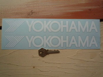 "Yokohama Cut Text & Y Stickers. 11"" Pair."