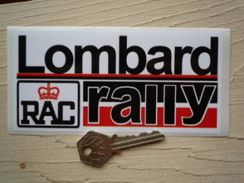 "Lombard RAC Rally Red & Black Sticker. 6""."