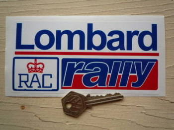 "Lombard RAC Rally Red & Blue Sticker. 6""."
