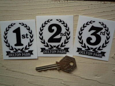 Oulton Park 1st, 2nd & 3rd Podium Garland Stickers. 2