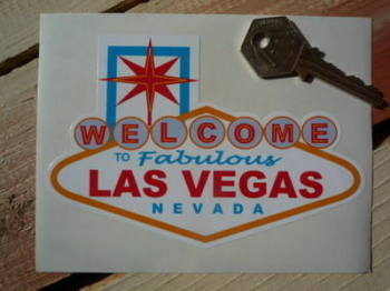"Las Vegas Nevada 'Welcome To Fabulous' Sticker. 5""."