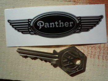 "Panther Winged Helmet Sticker. 3.5""."