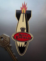 "Royal Enfield Falling Rocket Sticker. 4.5""."