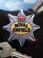 """Royal Enfield Silver Star Stickers. 2.5"""" Pair."""