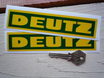 "Deutz Tractor Oblong Stickers. 6"" Pair."