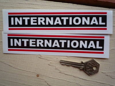 "International Tractor Oblong Stickers. 6"" Pair."