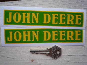 "John Deere Oblong Stickers. 6"" Pair."