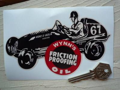 """Wynn's Roundel & Car Shaped Sticker. 6""""."""