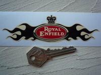 Royal Enfield Flame Wings Helmet Sticker. 5
