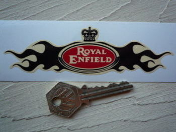 "Royal Enfield Flame Wings Helmet Sticker. 5""."