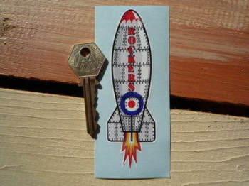 """Rockers Rocket Sticker. 4.5""""."""