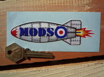 "Mods Rocket Sticker. 4.5""."