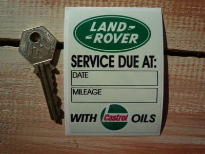 Land Rover Service With Castrol Oils Sticker. 2.25