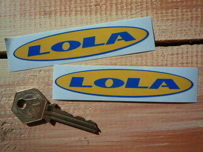 """Lola Modern Style Oval Stickers. 4"""" Pair."""