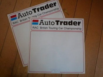 "Auto Trader RAC British Touring Car Championshiop. Door Panel Stickers. 16"" Pair."