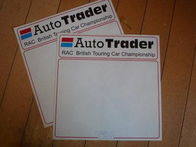 "Auto Trader RAC British Touring Car Championshiop. Door Panel Stickers. 16"" Pair."