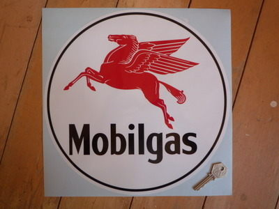 "Mobil Mobilgas Circular Sticker. 6.5""."