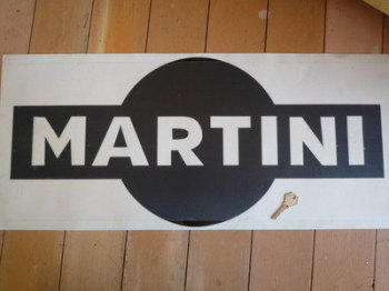 "Martini Cut Vinyl Logo Sticker. 27""."