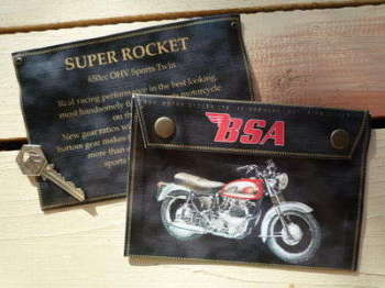 BSA Super Rocket 650cc Small Document Holder/Toolbag.