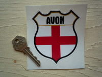 "England County Shield Sticker. 3""."