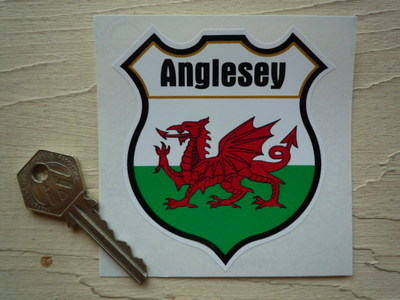 Wales Personalised Shield Sticker. 3