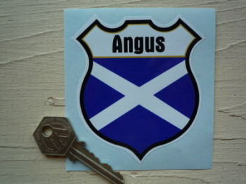 "Scotland Personalised Shield Sticker. 3""."