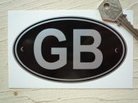 GB Black & Silver Riveted ID Plate Sticker. 3