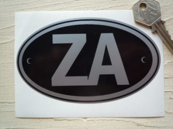 "ZA South Africa ID Plate Sticker. 5""."