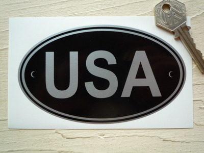 USA Black & Silver ID Plate Sticker. 5