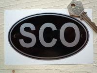 SCO Scotland Black & Silver ID Plate Sticker. 5