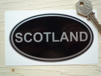 "Scotland Black & Silver ID Plate Sticker. 5""."