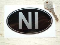 NI Northern Ireland Black & Silver ID Plate Sticker. 5